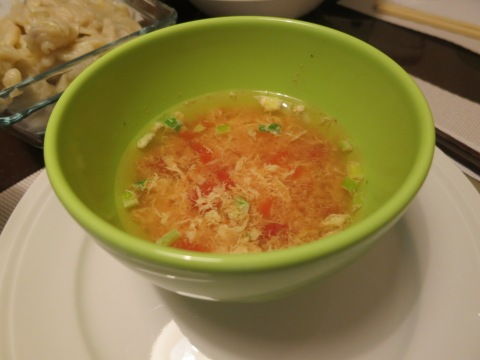 西红柿鸡蛋汤 (xī hóng shì jī dàn tāng)
